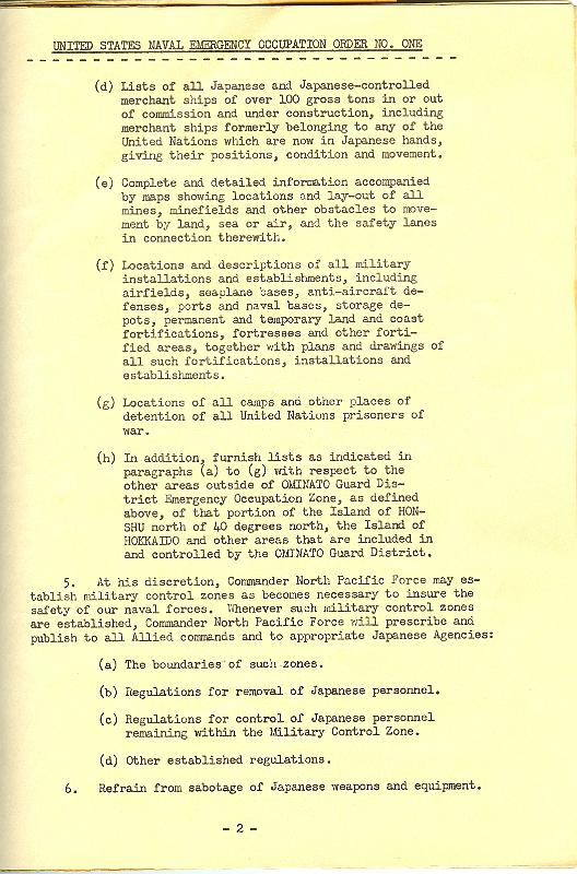 Occupation of Japan2/Occupation orders Page 2